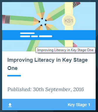 Key Stage 1 Improving Literacy Guidance, EEF 2016