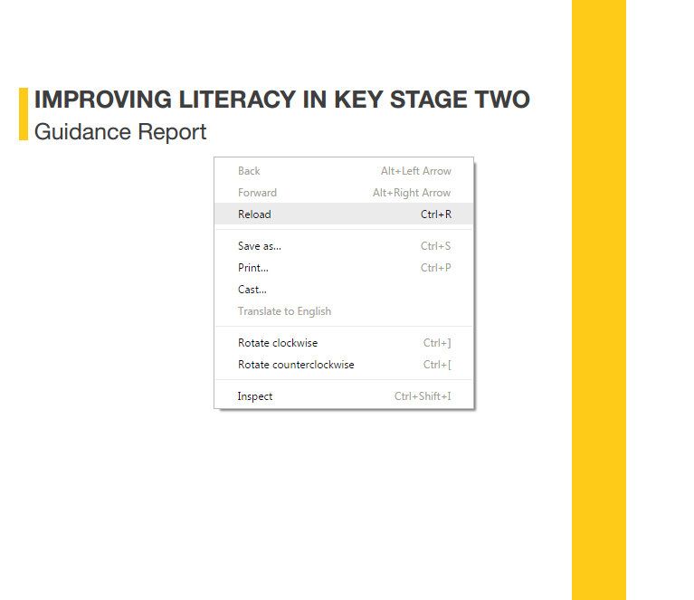 Improving Literacy in KS2, EEF April 2017